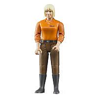 Bruder Фигурка женщины  в коричневых джинсах  (60407)