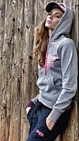 Кофта спортивная женская с капюшоном