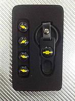 Колпачки на ниппель в коробке (4 шт.+ ключ) CHEVRLLET-B