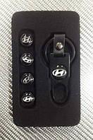 Колпачки на ниппель в коробке (4 шт.+ ключ) HYUDNAI-B