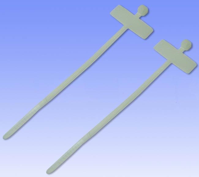 Хомут стяжки 200х2,5мм с маркировочной табличкой 25х8мм (100шт)