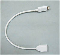 Lightning to micro USB adapter (with cable), white Redot (CAADPT006)