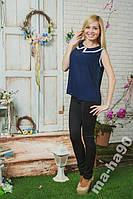 Блуза женская с воротником шифон. Размеры  42__58
