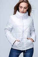 Белая женская куртка  K&ML , демисезонная курточка, куртка весна-осень,светло серый