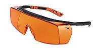 Окуляри захисні Univet 5x7 від випромінювання фотополімерних ламп, регул. дужок, носіння з оптич. окулярами