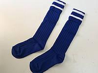 Гетры футбольные юниорские синие носок х/б р. 32-39
