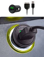 """Автомобильное зарядное устройство с кабелем для iPhone 2100 mA """"BELKIN"""""""