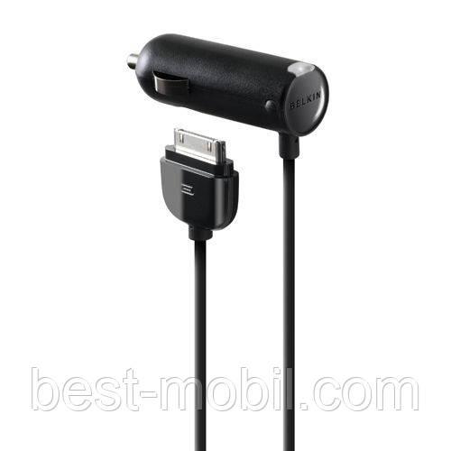 """Автомобильное зарядное устройство с Dock коннектором для Apple (F8Z184ZH) """"BELKIN"""""""