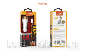 DL-C50 USB car charger 3USB (5,1 A), LDNIO+ cable iphone 5