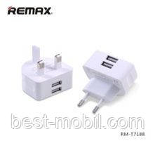 Remax Moon 2.1A dual USB BS/CE home charger