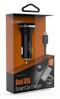 Автомобильное зарядное устройство DL-219i5 USB + cable for iPhone 5 (2,1 A) , LDNIO