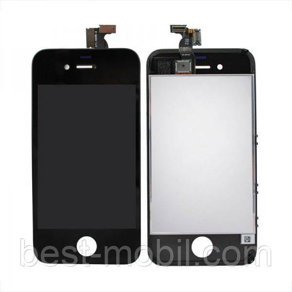 Дисплей (LCD) для iPhone 4G + touchscreen black orig