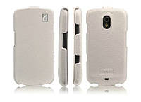 ICarer Genuine leather case for Samsung i9250 Galaxy Nexus, white (RS925001WH)