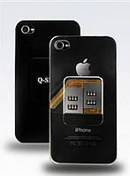 Задняя крышка на 2 сим карты для iPhone 4G/4S Q-Sim