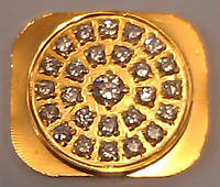 Кнопка Home (Home button) для iPhone 5 gold (с белыми камнями Swarovski) orig