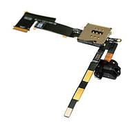 Шлейф с разъемом наушников и контактами SIM-карты (Headphone jack audio flex cable with SIM-card holder) для iPad 2 (WiFi+3G) black