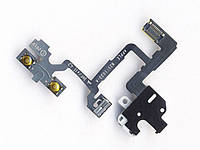 Шлейф с разъемом наушников, кн.громкости (Headphone jack audio flex cable) для iPhone 4G black orig