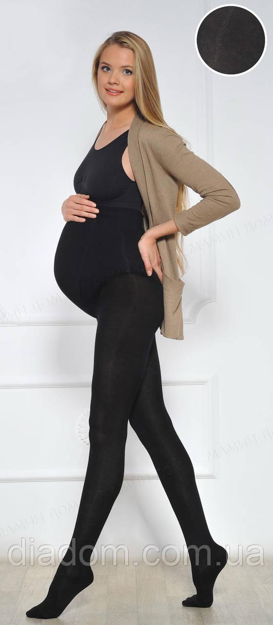 Колготки для вагітних теплі з модалом 250 den чорні