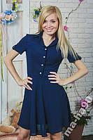 Платье летнее короткое шифон. Размеры от 42 до 50