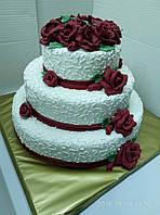 Свадебный торт  на заказ в Днепропетровске, фото 1