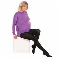 Колготки теплые для беременных 360 den хлопковые с пяткой черные, фото 1
