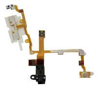 Шлейф с разъемом наушников, кн.громкости (Headphone jack audio flex cable) для iPhone 3G/3GS black orig