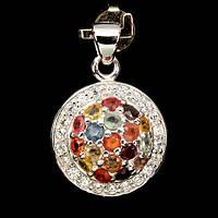 Сапфир самоцветы, серебро 925, 050КЛС кулон