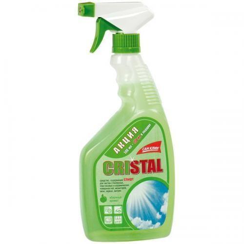 Сан Клин Cristal для стекол и зеркал (распылитель) 500 мл