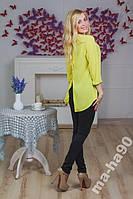 Блуза  женская шифоновая Лимон.