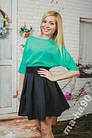 Блуза шифон + юбка колокол. Размеры  42__46
