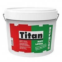 Латексная краска Titan Mattlatex Eskaro 10л –  моющаяся краска для стен и потолков(Титан Матлатекс)