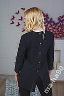 Блуза  женская шифоновая Черная.
