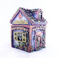 Копилка Домик Любви - это красивый и романтичный подарок лавандового цвета, фото 1