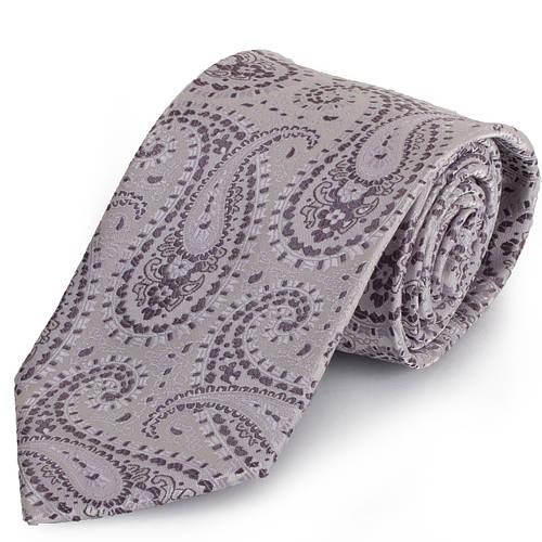 Эффектный мужской широкий SCHONAU & HOUCKEN (ШЕНАУ & ХОЙКЕН) галстук FAREPS-12 серый