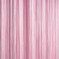 Однотонные шторы-нити светло-розовые 300 см*300 см