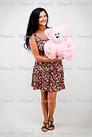 Большой плюшевый мишка, медведь Томми 50см розовый