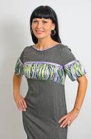 Платье женское олива с шелком  ПЛ 078