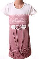 Платье подростковое с цветами
