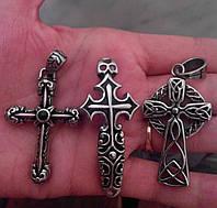 Крест из медицинской стали 316L, 100% аналог серебряного крестика.