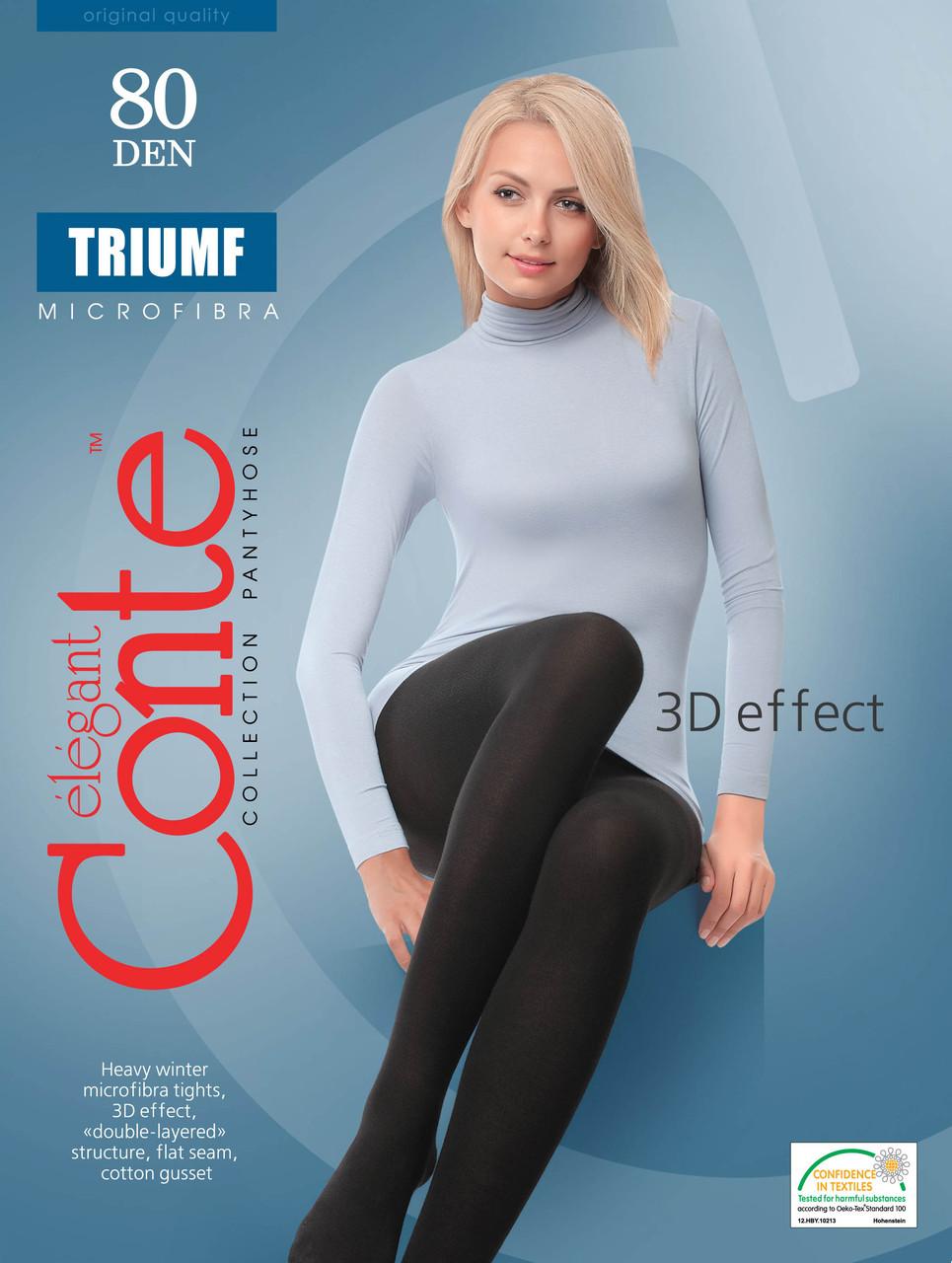 Колготки жіночі Conte Triumf 80 (Конте Тріумф 80 ден), розмір 2-4, Білорусія
