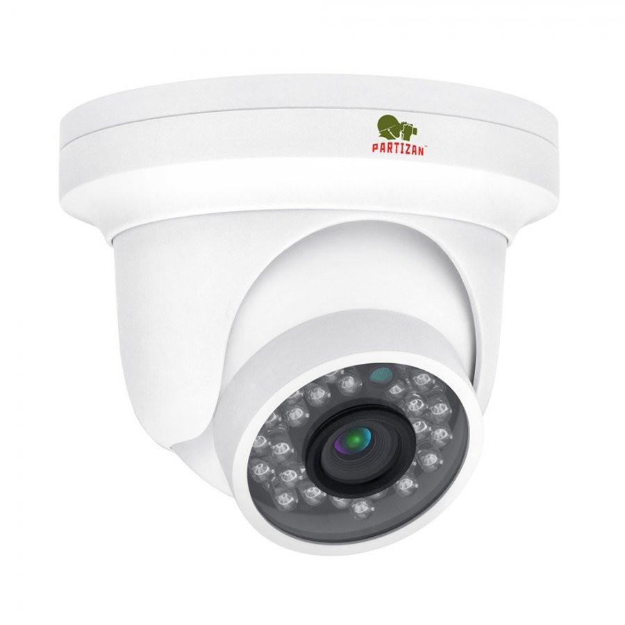 Купольная IP-видеокамера с фиксированным фокусом  Partizan IPD-1SP-IR SE 1.0