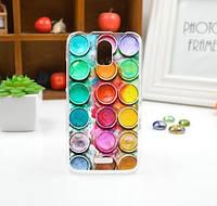 Силиконовый чехол для Huawei Y3 с картинкой Краски