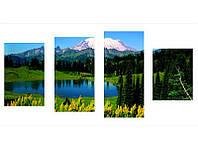 Сегментная 4- модульная картина LAKE IN THE MOUNTAINS