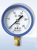 Радиальный манометр для кислорода ДМ 05050-02, степень защиты IP40, класс точности 2,5