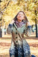 """Женское пальто """"Оттенки осени"""" , фото 1"""