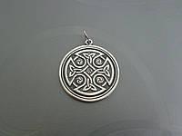 Серебряный кулон - амулет Солнечный Кельтский Крест