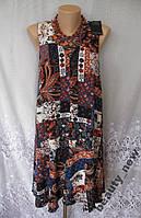 Новое стильное платье MARKS&SPENCER вискоза S 44-46 B163N