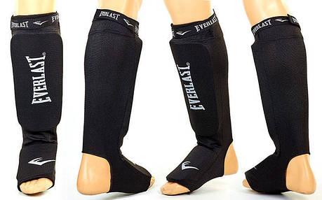 Защита для ног (голень+стопа) для тайского бокса с фиксатором EVERLAST MA-4613-BK , фото 2