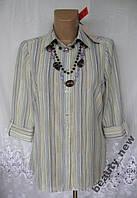Новая практичная рубашка MARKS&SPENCER полиэстер М 48-50 B149N