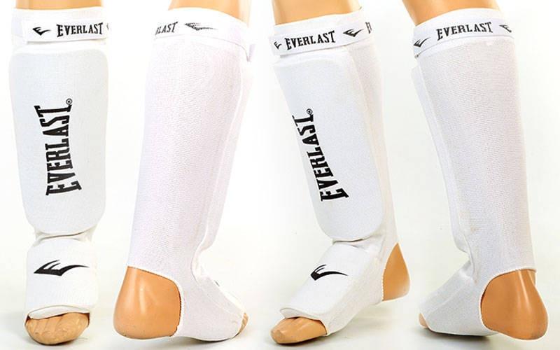 Захист для ніг (гомілка+стопа) для тайського боксу з фіксатором EVERLAST MA-4613-W